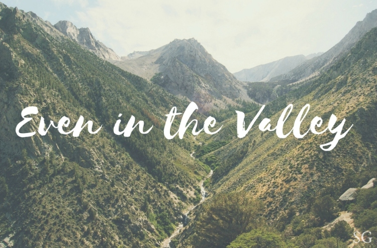 Even in the Valley | Sarah's Grace Blog